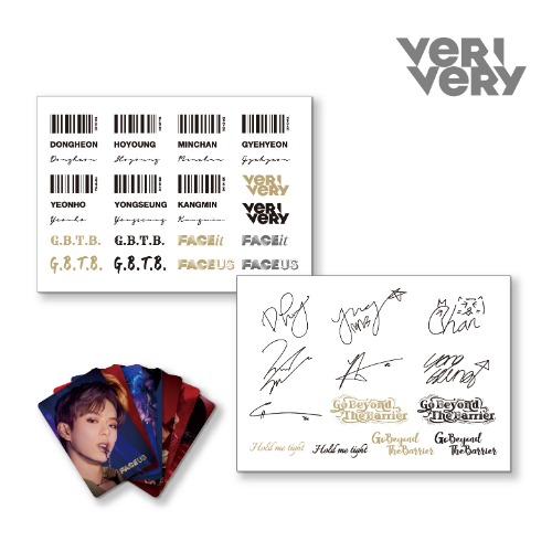 베리베리 (VERIVERY) - FACE it ep.03 [FACE US] - 타투스티커 세트 (Tattoo Sticker SET)